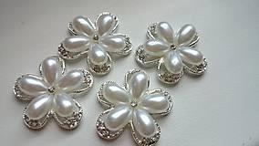 - Luxusná štrasovo-perličková ozdoba - 5723895_
