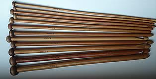 Galantéria - Sada 12tich -  25cm háčiky na afgánske háčkovanie - 5724002_