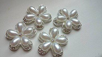 Galantéria - Luxusná štrasovo-perličková ozdoba - 5723895_