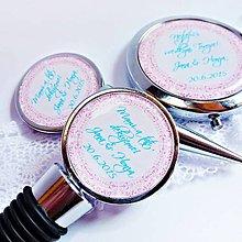 Darčeky pre svadobčanov - zátka na láhev s ornamentem - SK text na přání - 5724959_