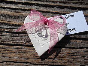 Darčeky pre svadobčanov - srdiečko s perníkovým vzorom+kartička - 5722920_