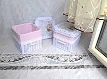 Košíky - Boxy ružové / ks - 5724743_