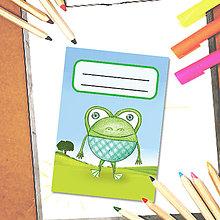 Papiernictvo - Mini zápisník Guľkáči (žabka) - 5723310_
