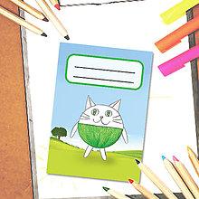 Papiernictvo - Mini zápisník Guľkáči - mačka - 5723317_