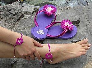 Obuv - Plážová letná súprava - fialová III - 5724998_