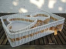 - Zlatohnedá svadba - sada troch košíčkov - 5727817_