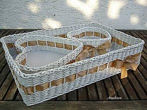 Košíky - Zlatohnedá svadba - sada troch košíčkov - 5727817_