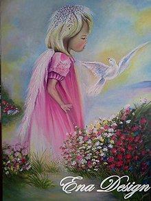 4d8e2bd4d122 Obrazy - Anjelik lásky - ručne maľovaný obraz - 5728102