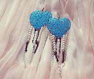 Náušnice - Modrá láska-náušnice :) - 5728989_