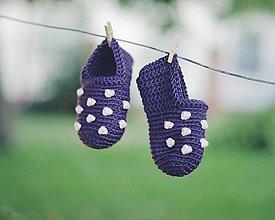 Topánočky - Mini papučky (FIALOVÉ) - 5726445_
