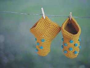 Topánočky - Mini papučky (ŽLTÉ) - 5726481_