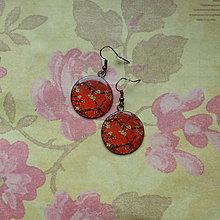 Náušnice - Vintage Sakura  - náušnice průměr 25 mm - 5728015_