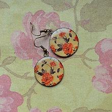Náušnice - Romantic Peonies - náušnice průměr 25 mm - 5728142_