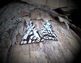 Náušnice - Trojuholníky 20 mm s kovovým efektom - 5726017_