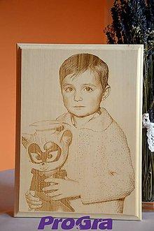 Rámiky - Vaša drevená fotka - rozmer A4 - 5729182_