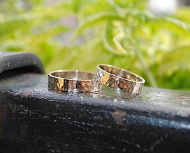 Prstene - Po daždi v bielom (tepané) - 5730971_