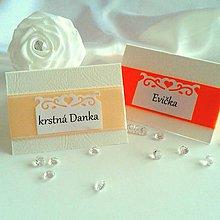 Papiernictvo - Svadobné menovky oranžové odtiene - 5729639_