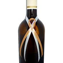 Nádoby - Stužky na svadobné fľaše rôznofarebné - 5729679_