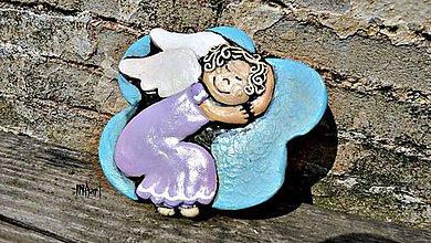 Dekorácie - Anjelik na obláčiku - 5731455_