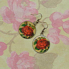 Náušnice - Roses  - náušnice 25 mm - 5731987_