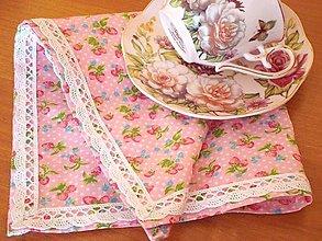Úžitkový textil - Obrúsok jahôdky - 5731283_
