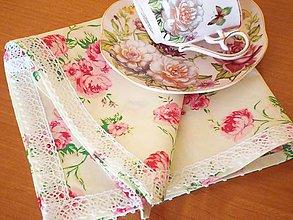 Úžitkový textil - Obrúsok ruže - 5731343_
