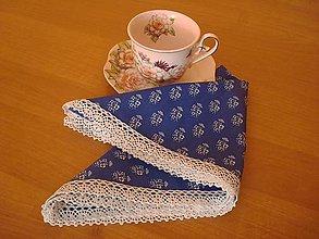 Úžitkový textil - Obrúsok modrotlač - 5731360_