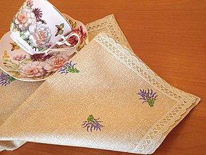 Úžitkový textil - Obrúsok levandule - 5731382_