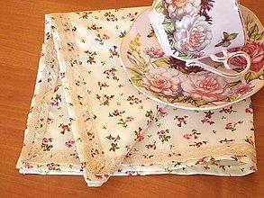 Úžitkový textil - Obrúsok ružičky - 5731391_