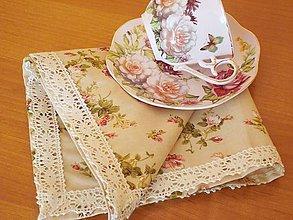 Úžitkový textil - Obrúsok ruže - 5731399_