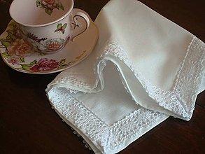 Úžitkový textil - Obrúsok biely - 5731421_