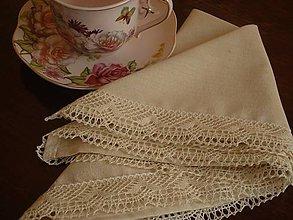 Úžitkový textil - Obrúsok vanilka - 5731439_