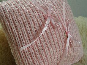 Pierka - svadobný vankúšik PLETENÝ - ružový - 5732469_