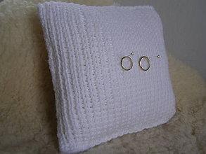 Prstene - svadobný vankúšik PLETENÝ - biely - 5732502_