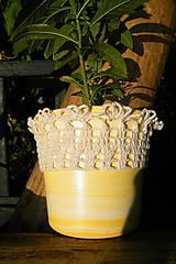 Úžitkový textil - Obháčkovaný obal na kvetináč - 5732299_