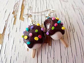 Náušnice - zmrzliny náušnice (lentilkové nanuky) - 5732243_