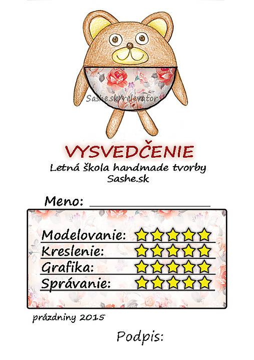 Letné vysvedčenie Guľkáči macko (ružičkoví)