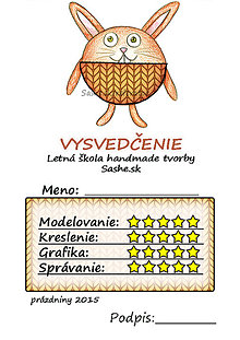 Papiernictvo - Letné vysvedčenie Guľkáči  (štrikovaní) - 5729978_