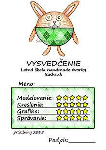 Papiernictvo - Letné vysvedčenie Guľkáči  (károvaní) - 5729993_