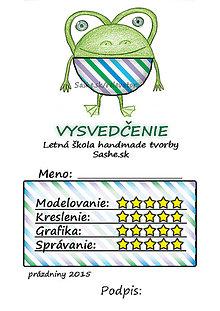 Papiernictvo - Letné vysvedčenie Guľkáči žabka (pruhovaní) - 5730947_