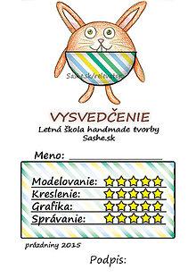 Papiernictvo - Letné vysvedčenie Guľkáči  (pruhovaní) - 5731121_