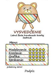 Papiernictvo - Letné vysvedčenie Guľkáči macko (pruhovaní) - 5731126_