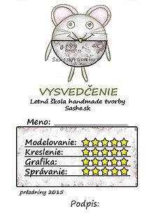 Papiernictvo - Letné vysvedčenie Guľkáči myš (ružičkoví) - 5731152_