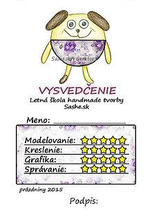 Papiernictvo - Letné vysvedčenie Guľkáči psík (ružičkoví) - 5731183_