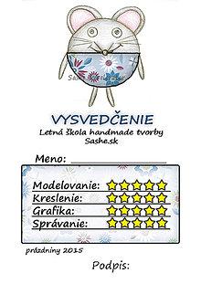 Papiernictvo - Letné vysvedčenie Guľkáči myš (kvetoví) - 5731488_