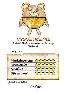 Papiernictvo - Letné vysvedčenie Guľkáči macko (jesenní) - 5731547_