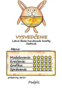 Papiernictvo - Letné vysvedčenie Guľkáči  (jesenní) - 5731550_