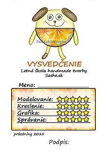 Papiernictvo - Letné vysvedčenie Guľkáči psík (jesenní) - 5731567_