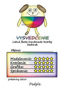 Papiernictvo - Letné vysvedčenie Guľkáči psík (dúhoví) - 5732111_