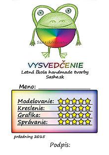Papiernictvo - Letné vysvedčenie Guľkáči žabka (dúhoví) - 5732118_